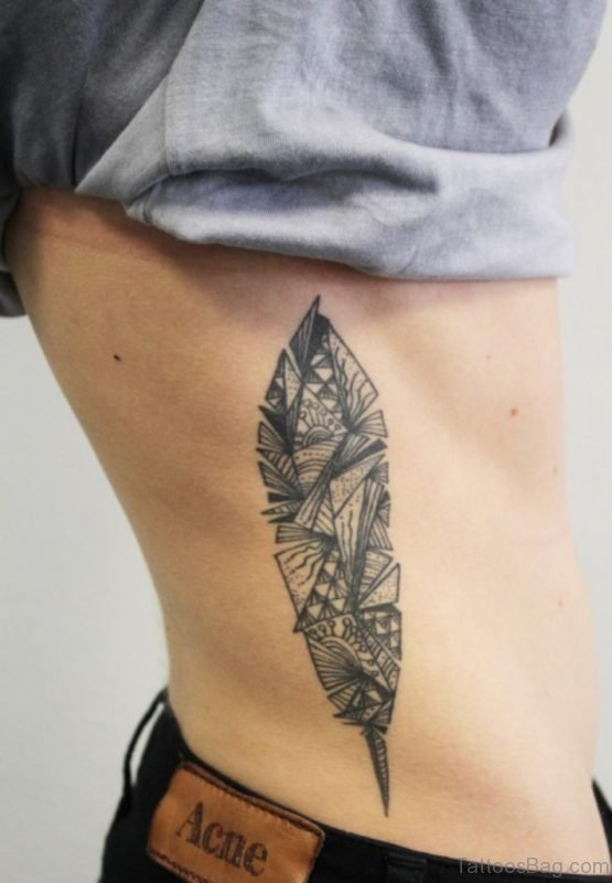Awesome Feather Tattoo