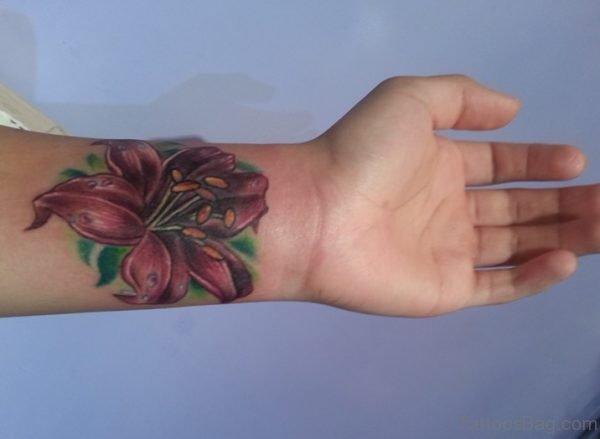 Awesome Flower Tattoo On Wrist