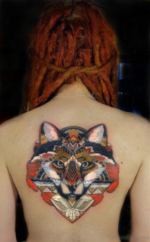 Fox Tattoo On Back