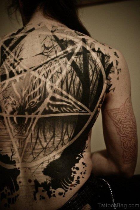 Awesome Full Back Tattoo