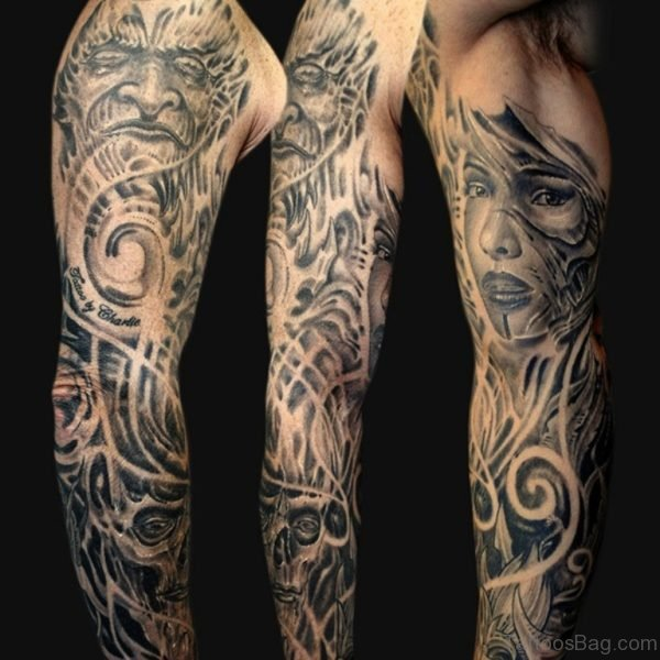 Fabulous Full Sleeve Tattoo