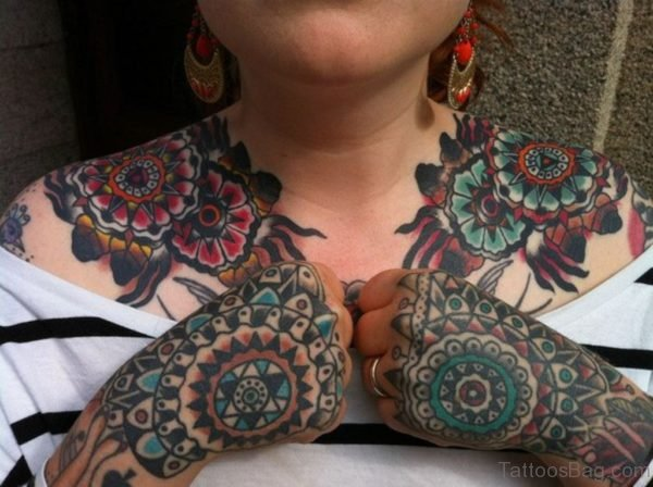 Awesome Hand Tattoo TB103