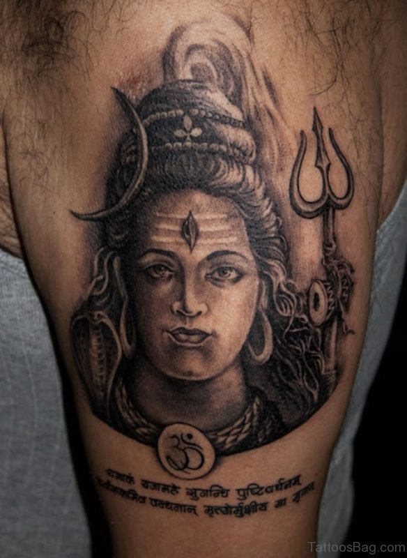 Awesome Lord Shiva Tattoo On Shoulder