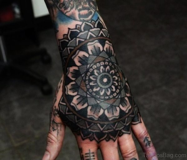 Awesome Mandala Tattoo On Hand
