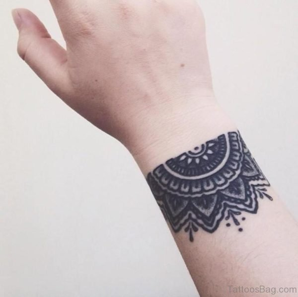 Awesome Mandala Tattoo On Wrist