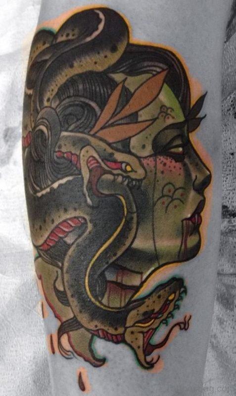 Awesome Medusa Tattoo On Arm