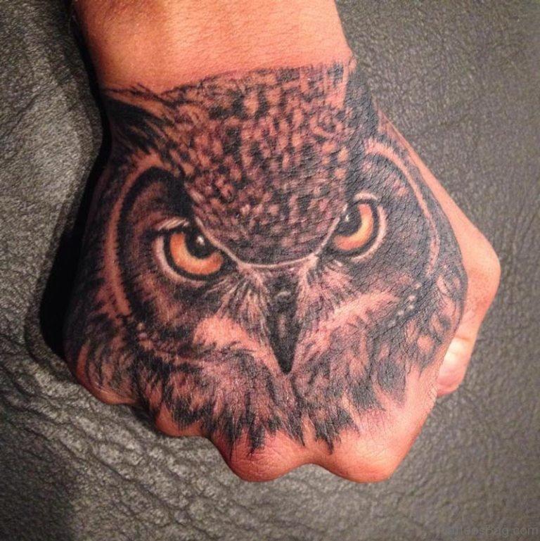 1097b69e4 61 Wonderful Owl Tattoos On Hand