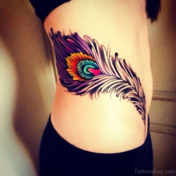 Awesome Peacock Feather Tattoo