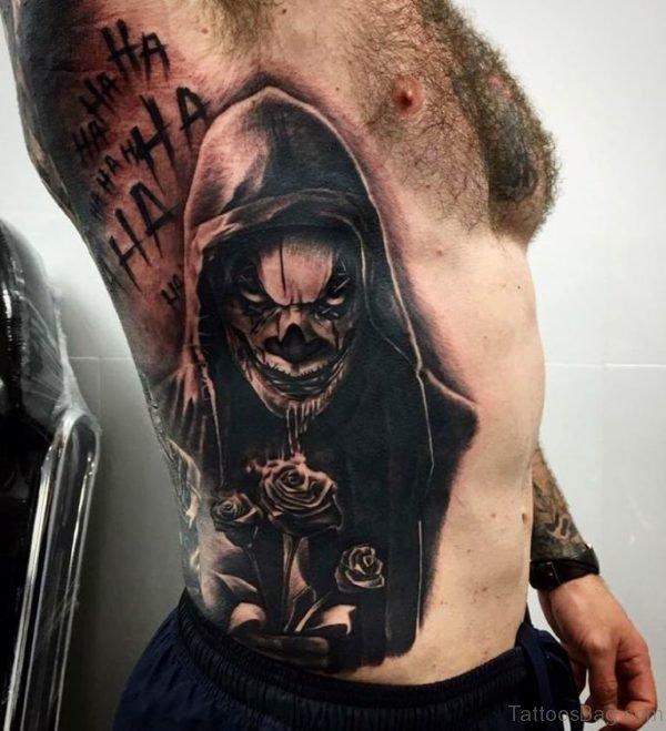 Black Rib Tattoo