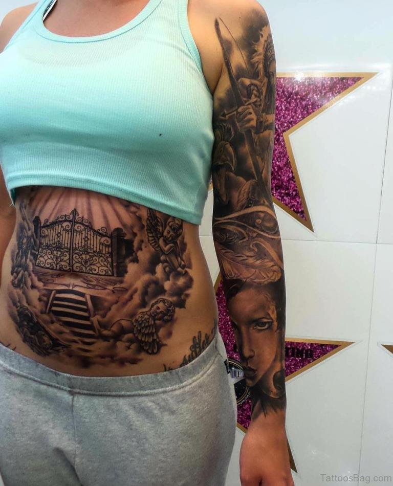 55 best stomach tattoos for Stomach tattoo designs