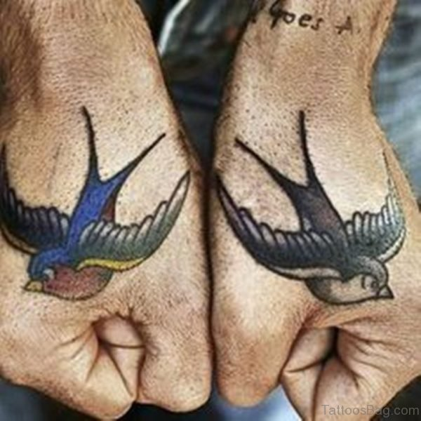 Awesome Swallow Tattoo