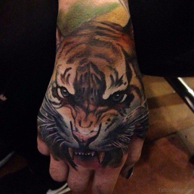 96f5dc25e 62 Mind Blowing Tiger Tattoo On Hand