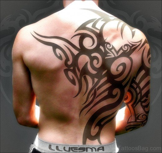 Awesome Tribal Tattoo On BAck