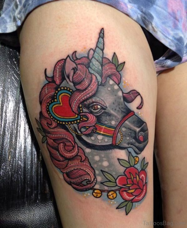 Awesome Unicorn Tattoo