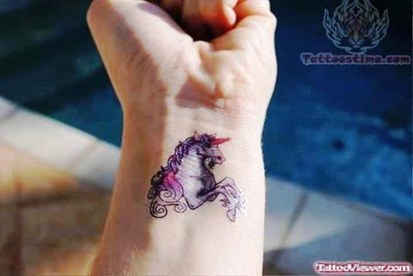 Awesome Unicorn Wrist Tattoo