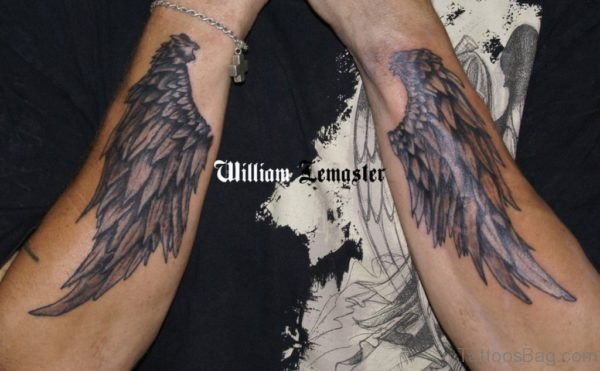 Awesome Wings Tattoo On Arm