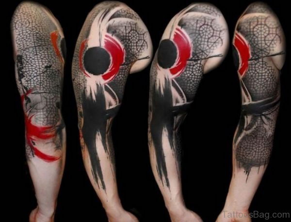 Awesome Full Sleeve Tattoo Design