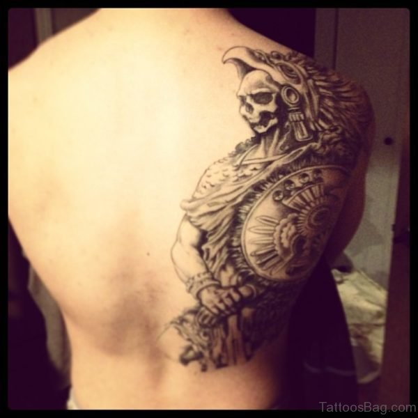 Aztec Skull Warrior Tattoo