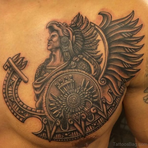Aztec Tattoo Design On Chest