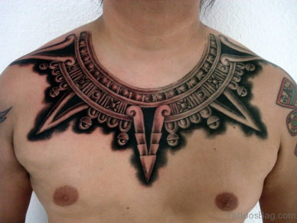 Aztec Tattoo On Chest