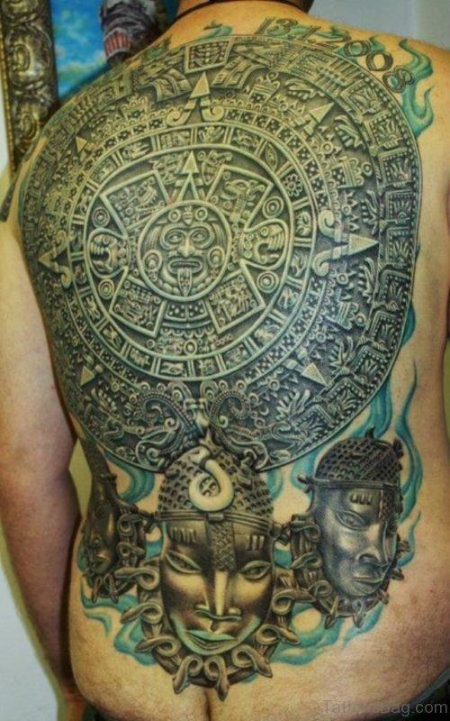 Circle Aztec Tattoo