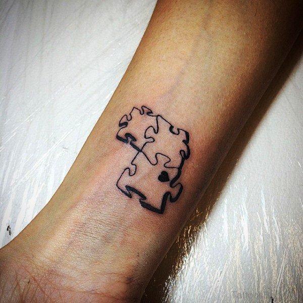 Back Autism Tattoo On Wrist