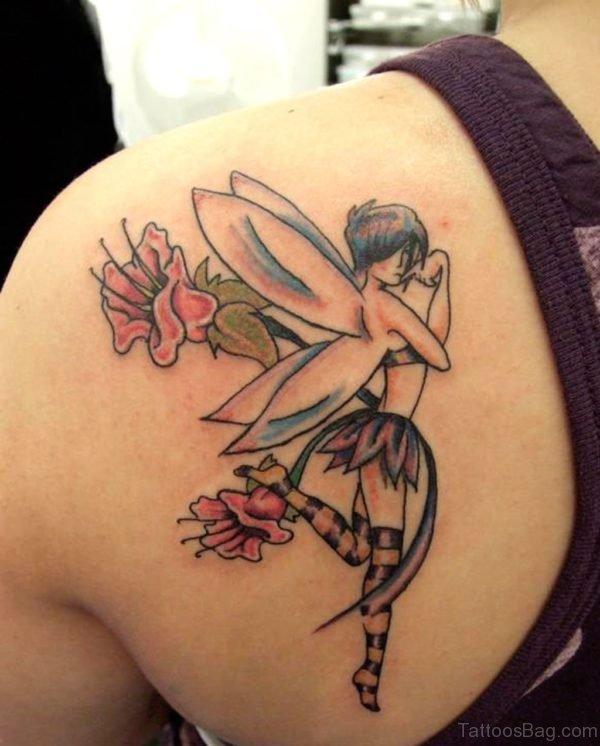 Colored Fairy Tattoo