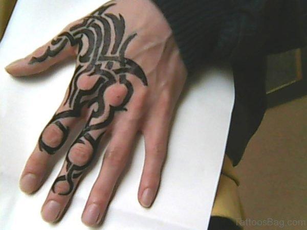 Balck Ink Tribal Tattoo