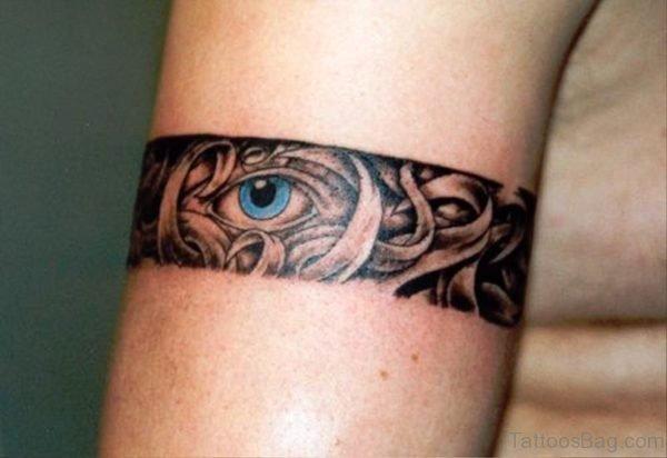 Band Eye Tattoo On Arm