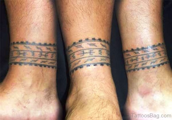 Band Tatto On Leg Pic