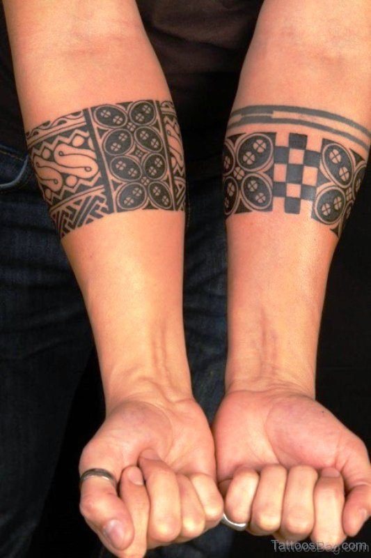 Band Tattoos On Both Arms