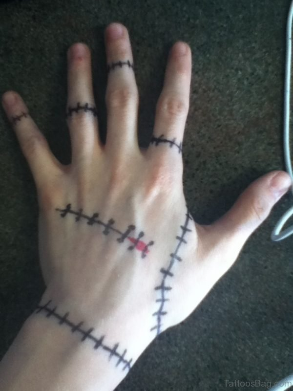 Barbwire Tattoo On Finger