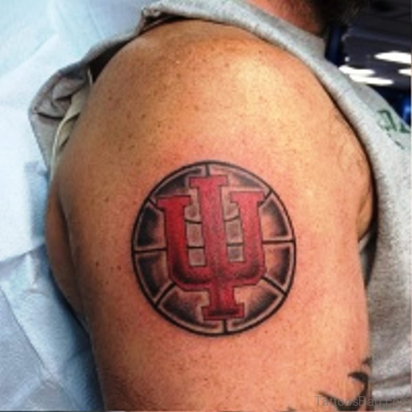 Basketball Tattoo On Shoulder Image