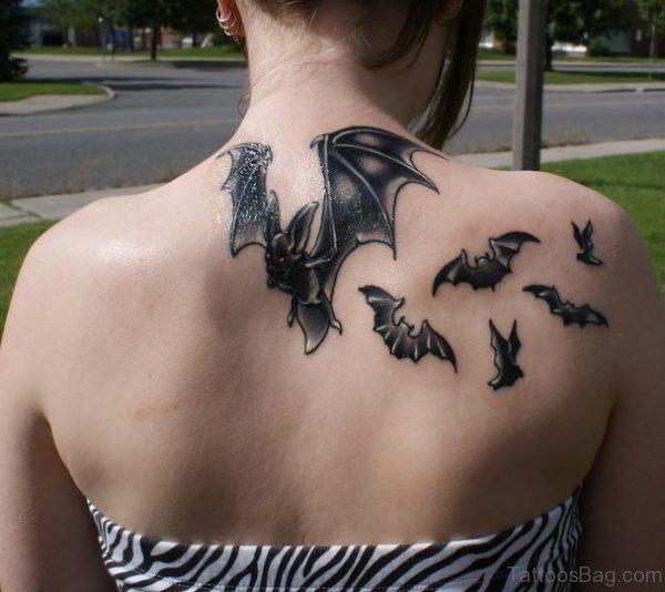 Bats Tattoo On Back