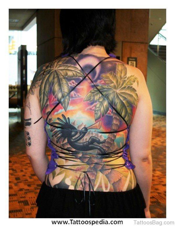 Beach Tattoo On Back