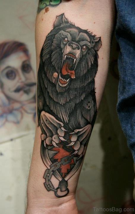 Bear Tattoo On Arm