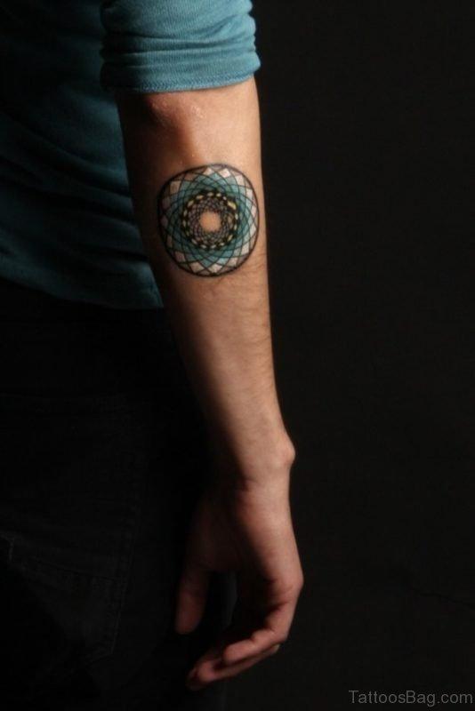 Beautiful Mandala Tattoo On Arm