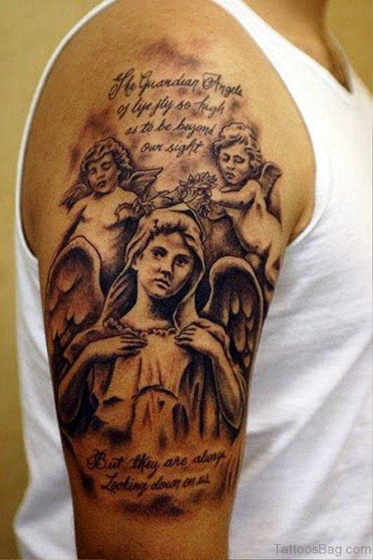 Beautiful Archangel Tattoo Design