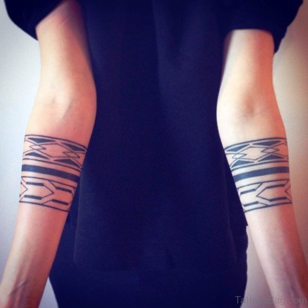 Beautiful Band Tattoo On Arm