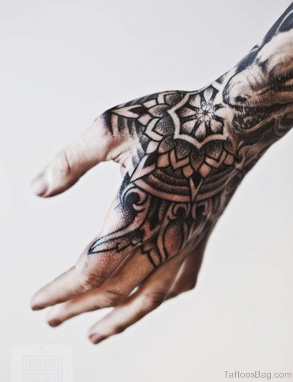 Beautiful Black Mandala Tattoo