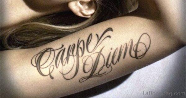 Beautiful Carpe Diem Tattoo Design