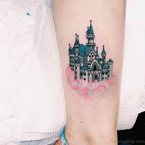 Beautiful Disney Castle Wrist Tattoo