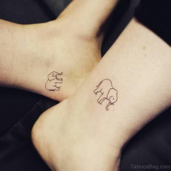 Beautiful Elephant Tattoo On Ankle