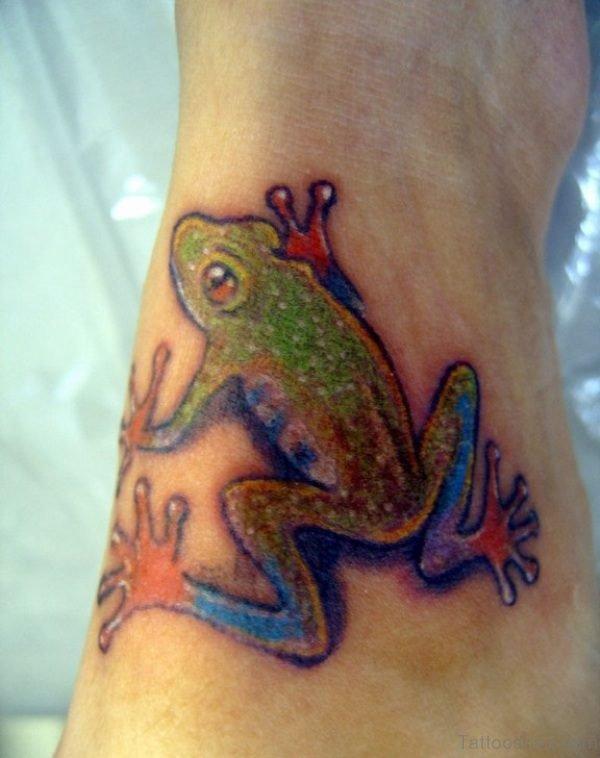 Beautiful Frog Tattoo On Wrist