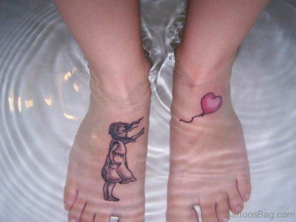 Beautiful Herat Balloon Tattoo