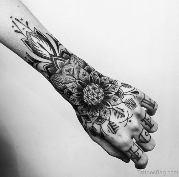 Beautiful Mandala Tattoo On Hand