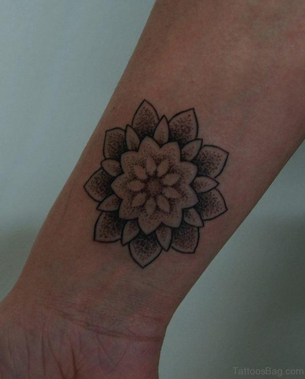 Beautiful Mandala Tattoo On Wrist