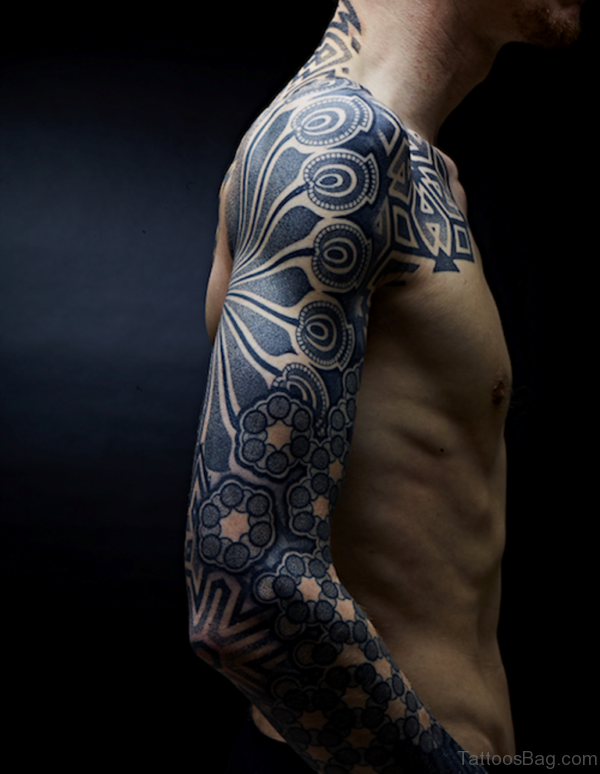 Beautiful Mandala Tattoo on Full Sleeve