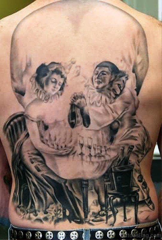 Beautiful Skull Tattoo On Back