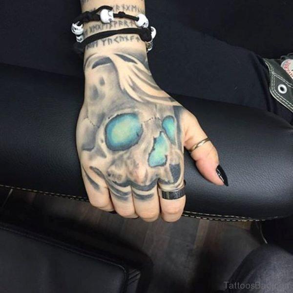 Beautiful Skull Tattoo On Hand